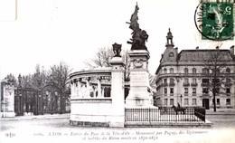 #& Lyon - Entrée Du Parc De Tête D'Or - Monument Par Pagny Des Légionnaires Et Mobiles Du Rhône  Morts En 1870/1871 - Lyon