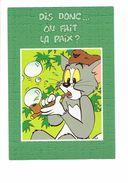 Cpm - TOM & JERRY - On Fait La Paix - Chat - Humour - 1997 Cs 8 - Calumet Pipe à Bulle De Savon Toque Trappeur - Stripverhalen