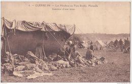 MARSEILLE  GUERRE DE 1914 LES HINDOUS INTERIEUR UNE TENTE  CPA BON ÉTAT - Guerre 1914-18