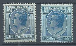 Monaco YT N°98-99 Prince Louis II Neuf/charnière * - Unused Stamps