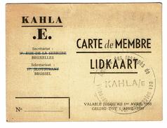 Carte De Membre / Amicale Des Rescapés De KAHLA/E. Jean Giovanni PERISSINOTO - 2 Scans - 1939-45