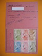 Carte De Membre Philatélie  Vignette  1953 à 1958 - Cartes