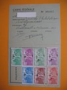 Carte De Membre Philatélie  Vignette  1960 à 1966 Et 1969 à 1972 - Maps