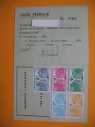 Carte De Membre Philatélie  Vignette  1971 à 1975 - Cartes