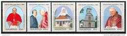 1989 Mauritius Papi Popes Papes Wojtyla Jean Paul II Set MNH** Nu93 - Mauritius (1968-...)
