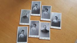 Lot De 7 Photographies - CDV - Photographie E. Belval Reims. Très Bon état. - Anciennes (Av. 1900)