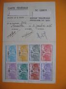 Carte De Membre Philatélie  Vignette  1976 à 1996 - Maps
