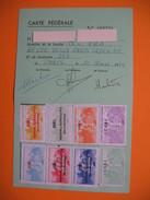 Carte De Membre Philatélie  Vignette  1992 à 1999 - Cartes
