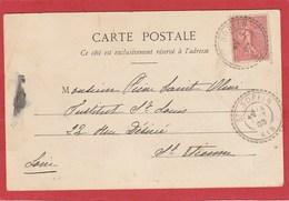 Facteur Boitier - Ain - Saint Sorlin - St Sorlin - Sur Type Semeuse 10c. 1903 - Postmark Collection (Covers)