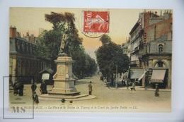 Old Postcard France - Bordeaux - La Place Et La Statue De Tourny Et Le Cours Du Jardin Public - Posted - Beziers