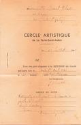 Convocation à La Réunion Du Cercle Artistique De La Ferté-Saint-Aubin Le 28 Juillet 1946 - Unclassified
