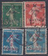 Syrie N° 35 / 38 O Timbres De France Surchargés : Les 4 Valeuirs Oblitérations Moyennes Sinon TB - Syria (1919-1945)