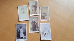 Lot De 6 Photographies - CDV - Photographie. Très Bon état. - Anciennes (Av. 1900)