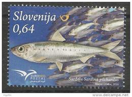 SI 2016-20 EUROMED FISH, SLOVENIA, 1 X 1v, MNH - Slowenien