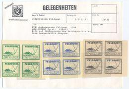 1941 GERMANIA  DEUTSCHES REICH AIR FORCE OSTPREUSSEN FELDPOST LGPA KONIGSBERG NUOVI UNUSED HIGH QUALITY (F950) - Germania