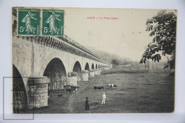 Old Postcard France - Agen, Le Pont Canal - Cows  - Posted - Sin Clasificación