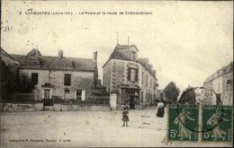 44 - CARQUEFOU - La Poste Et La Route De Châteaubriant - 9 - Carquefou