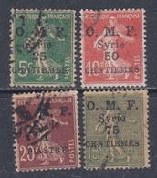 Syrie N° 63 / 64  O Timbres De France Surchargés : Les 2 Valeurs Oblitérations Moyennes Sinon TB - Syria (1919-1945)
