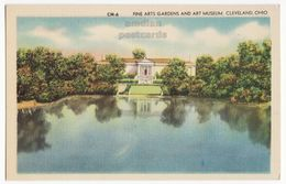 Cleveland OH Fine Arts Gardens & Art Museum Front View C1940s Vintage Ohio Postcard M8539 - Cleveland