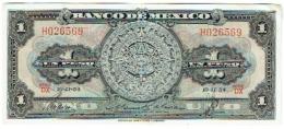 Banco De Mexico. UN PESO.  10-II-54 - Mexico