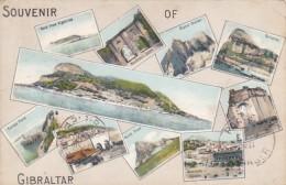 Souvenir Of Gibraltar Multi View 1912 - Gibraltar
