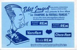 Buvard REM, Robert Jonquet Du Stade De Reims Présente Le Livre Les Champions Du Football Français. - Limonades