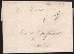 """1709. PARIS A AMBERES. PORTEO """"5"""" Y """"6"""" SIN MARCAS. - Altri"""