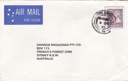 Hong Kong  1993 Cover Sent To Australia, Queen Elizabeth II $ 2,30 Stamp Affixed - Used Stamps