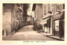 CPA N°9740 - JUJURIEUX - MONTEE DE L' EGLISE - France