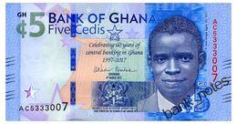GHANA 5 CEDIS 2017 COMMEMORATIVE Pick 43 Unc - Ghana