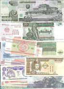 50 DIFERENTS BANKNOTES OF THE WORLD QUALITY UNC   ////// BILLETES DIFERENTES SIN CIRCULAR - Alla Rinfusa - Banconote