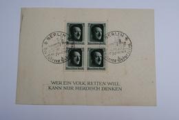 Bloc 4 Timbres Allemagne Oblitérés Berlin 20 Avril 1937 - Germany