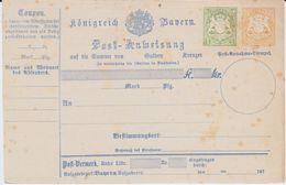 Bayern Ganzsache A 9 III Ungebraucht Ca 1874 - Bavière