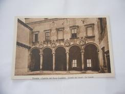 CARTOLINA TRENTO CASTELLO DEL BUONCONSIGLIO CORTILE DEI LEONI-LA LOGGIA. - Trento