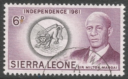 Sierra Leone. 1961 Independence. 6d Used. SG 229 - Sierra Leone (1961-...)