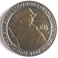 Médaille. Medaille. Christophe Columbus Quincentennial 1492 - 1992. 37 Mm - Tokens & Medals