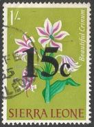 Sierra Leone. 1964-66 Decimal Currency Surcharges. 15c On 1/- Used. SG 319 - Sierra Leone (1961-...)