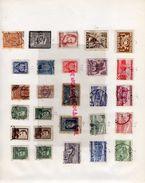 PORTUGAL MOZAMBIQUE  MOCAMBIQUE ZANZIBAR PLANCHE  COLLECTION TIMBRES NEUFS ET OBLITERES - 1919-1939 Republiek
