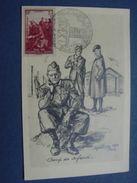 """Carte Maximum Du TP """"Pour Nos Prisonniers De Guerre"""",cachet Salon;illustr. Mühlberg """"Coup De Cafard"""". - 1940-49"""