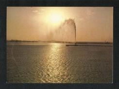 Saudi Arabia Picture Postcard Jeddah Fountain At Sunset View Card - Saudi Arabia