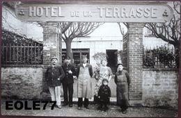 69 - CARTE PHOTO - SAINT DIDIER AU MONT D'OR - HOTEL DE LA TERRASSE - Devanture - Cafe - Commerce - Avenue De L'eglise - France