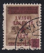 Occupazione Jugoslava: TRIESTE - Monumenti Distrutti  20 C. + Lire 1 Su 5 C. Bruno - 1945 - Occup. Iugoslava: Trieste