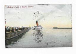 CPA Scotland Ecosse Arrival Of SS Juno GIRVAN Bateau Précurseur 1906 Pour Rafé à Redon Port Simple Gratuit - Ayrshire