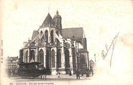 Louvain - Eglise Saint-Pierre (tram Tramway Chevaux, 1903) - Leuven