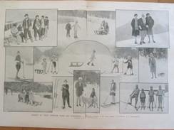 1927 Sports D Hiver Dans Les Pyrénées    Superbagneres  Font-Romeu  Ski Skieur Luge - Vieux Papiers