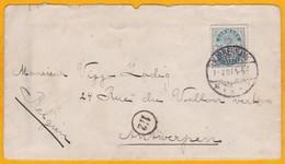 1901 - Enveloppe De Copenhague, Danemark Vers Anvers, Belgique  - Cad Arrivée - Lettere