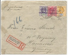 R642 - COLOMBO Ceylan 1907 - Pour HANNOVER Allemagne - Etiquette Ferroviaire VOM AUSLAND UBER BAHNPOST Nr. 19 - - Briefe U. Dokumente