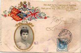 Her Majesty Queen Alexandra  - Médaillon Et Drapeaux Rehaussés Or    (100138) - History