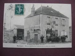 CPA 91 SOISY SUR ECOLE Montaquoi Maison BOUGAULT TOP ANIMEE Attelage De CORBEIL & Facteur à Velo ? 1909 Canton MENNECY - France