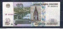 RUSSIE 10 RUBLES 1997 PÏCK 268a BILLET NEUF UNC - Russie